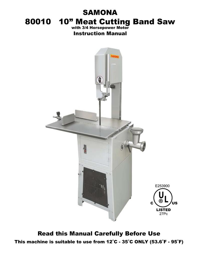 samona meat grinder 80030 instructions