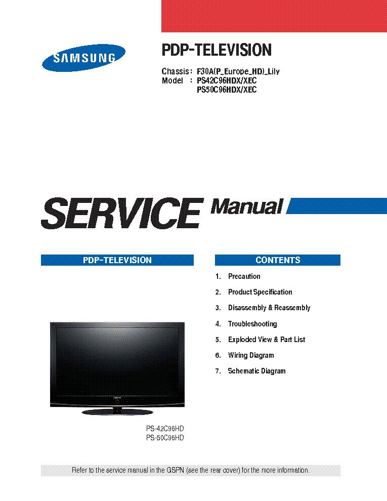 samsung plasma tv pnc50c540 manual