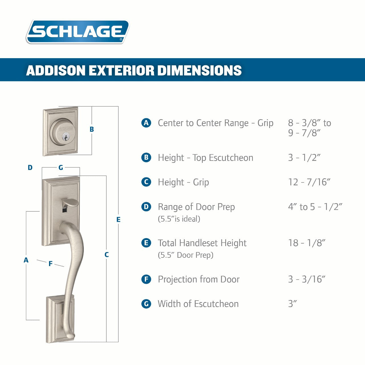 schlage handleset installation instructions