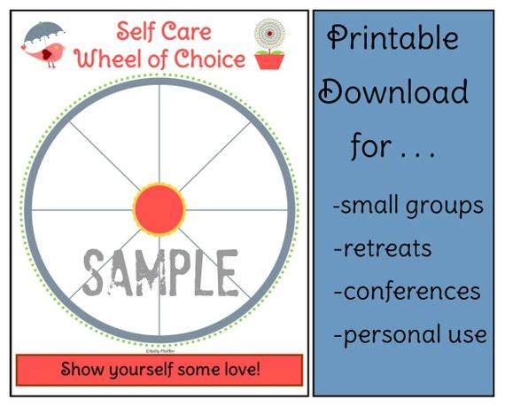 self care wheel instructions