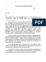 Show cause notice format pdf