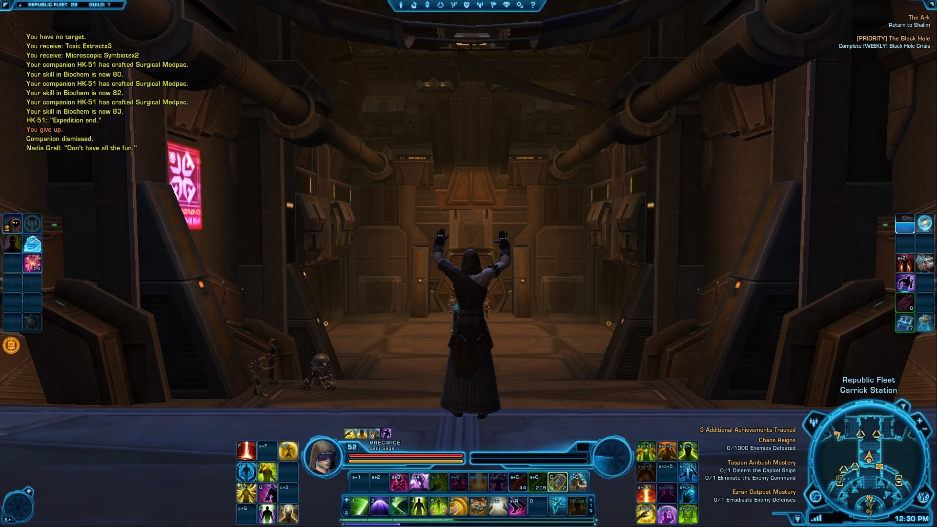 Swtor how to add more quickbars