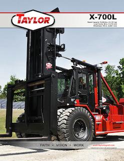 Taylor big red forklift manual