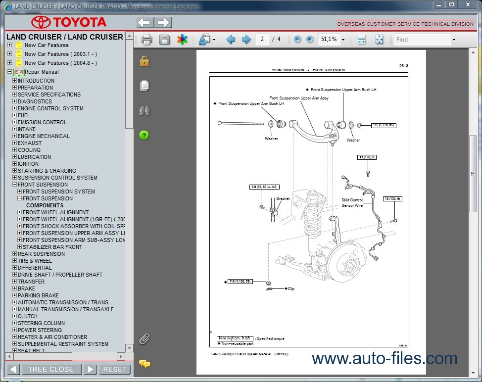 toyota land cruiser prado 120 repair manual pdf