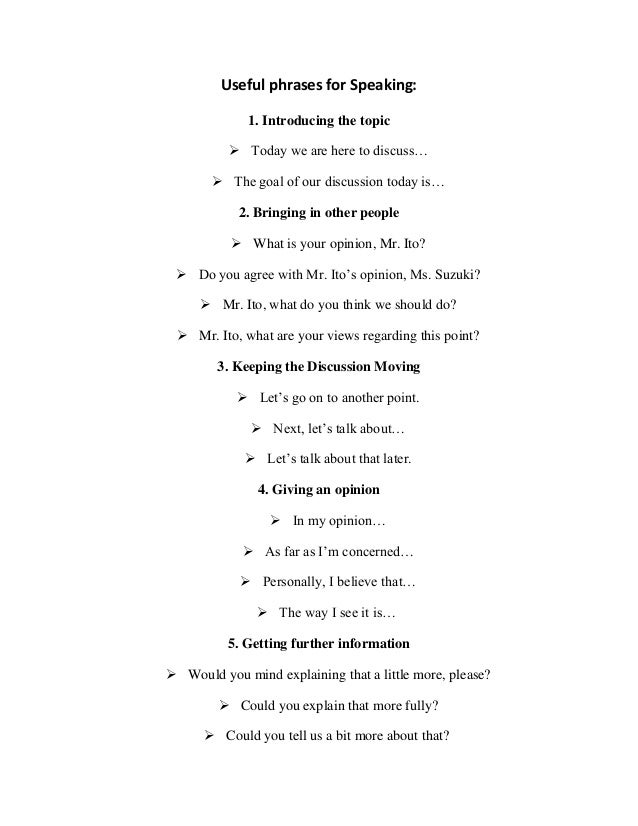 Useful phrases for presentations in english pdf