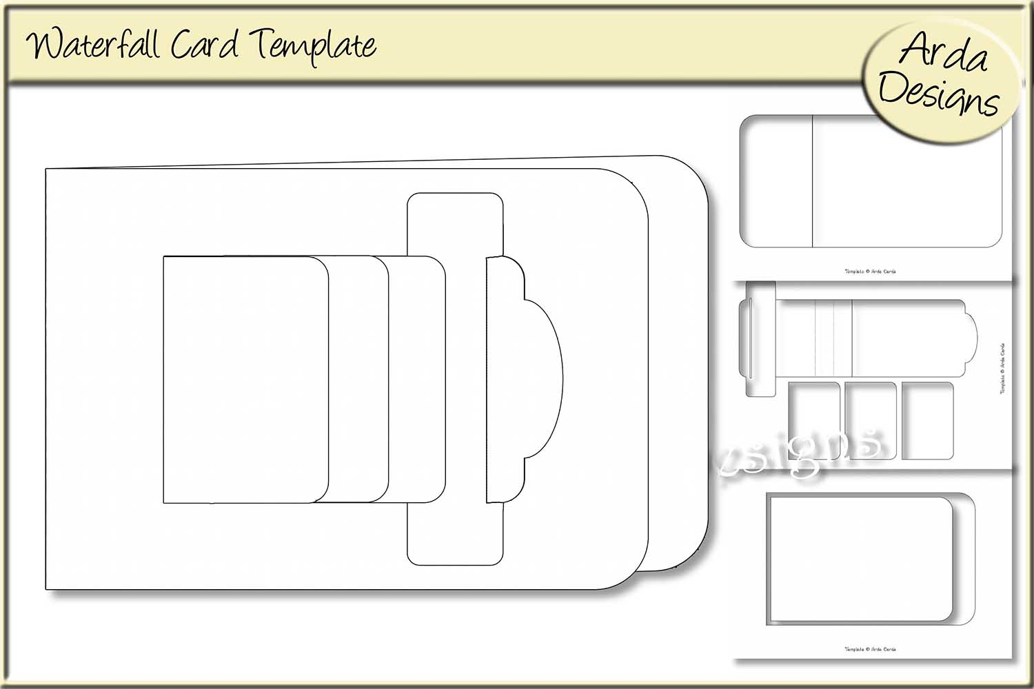 waterfall card template and instructions
